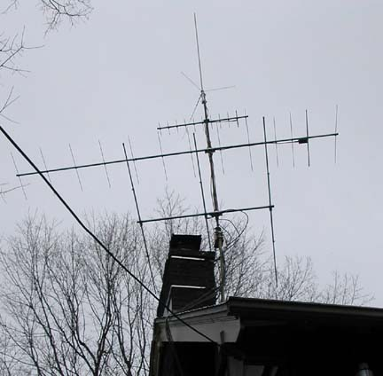 WA8PHD's antenna farm.