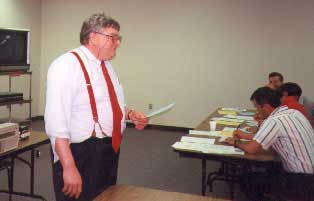 Professor Albert teaching a class
